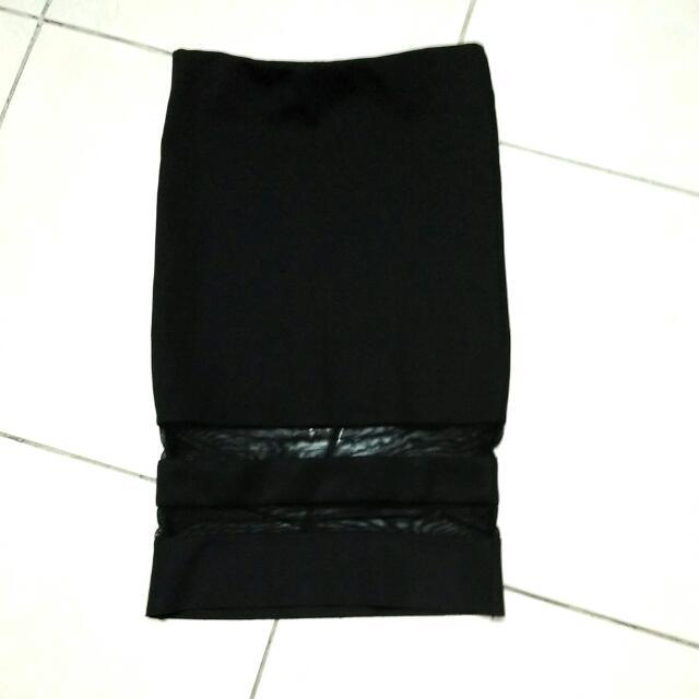 Black Midi Skirt By H&M