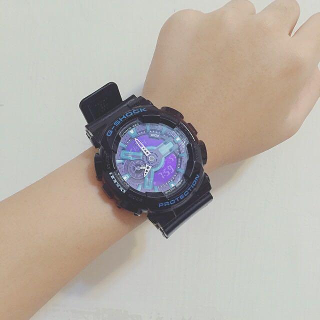 正版CASIO G-SHOCK 黑藍紫 日本限定款(可議)