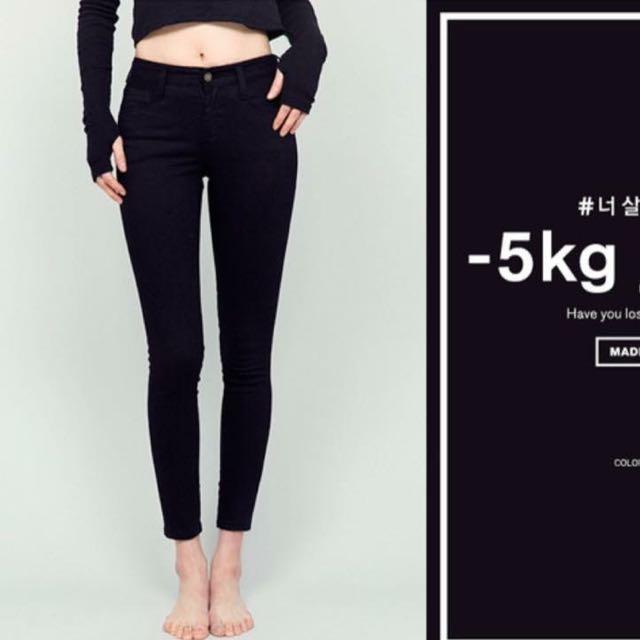 韓國Chuu-5kg窄管牛仔褲(現貨在台)