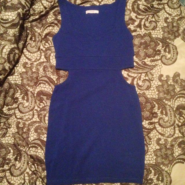 Electric Blue Cut Out Dress - Supre