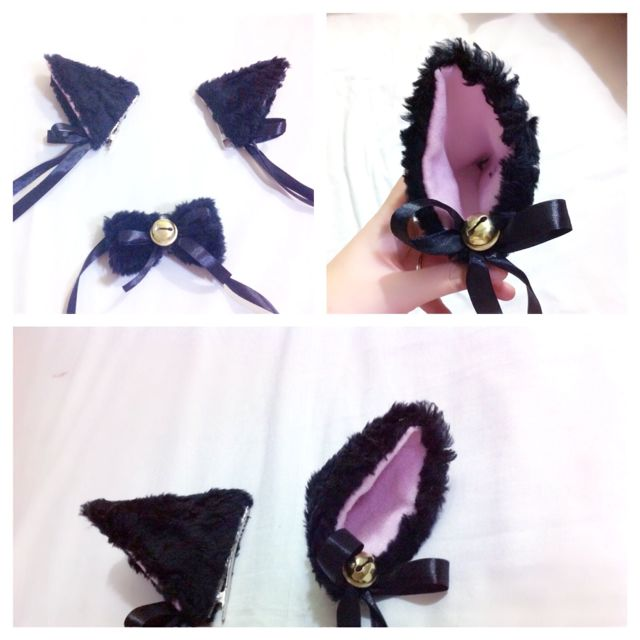 fluffy bell cat ear