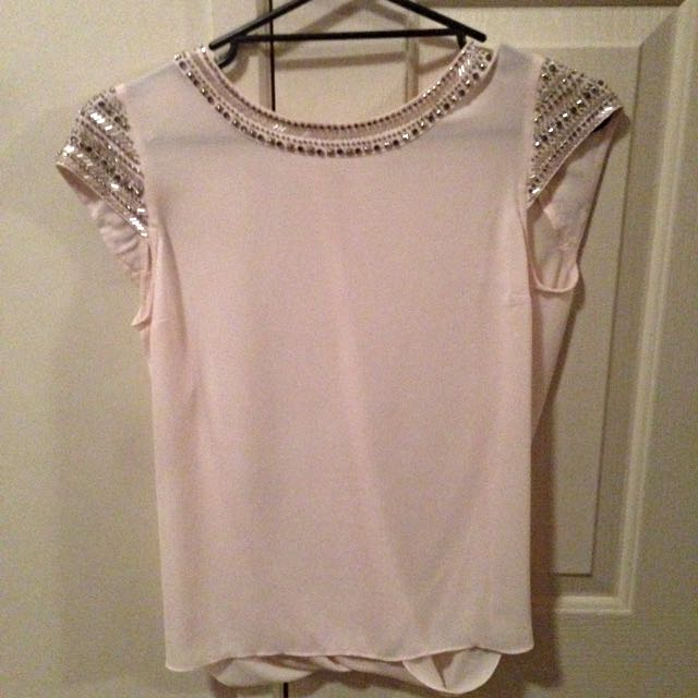 Forever New Pale Pink Wrap Top