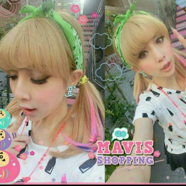 Mavis 日本連線 可愛口紅套裝 上衣+裙子 啦啦裙 Set Major Mjr Majormade