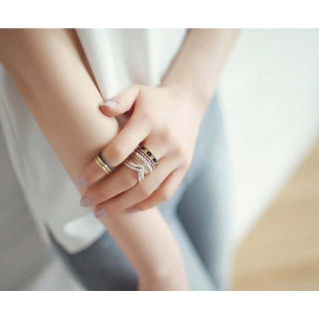 (NEW) F21 Set Multilayer Ring 2