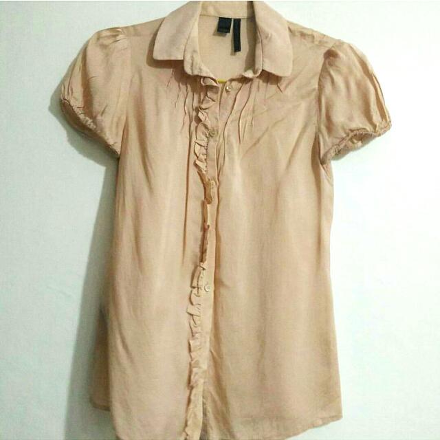 Preloved Pink Mango Silk Collection Top