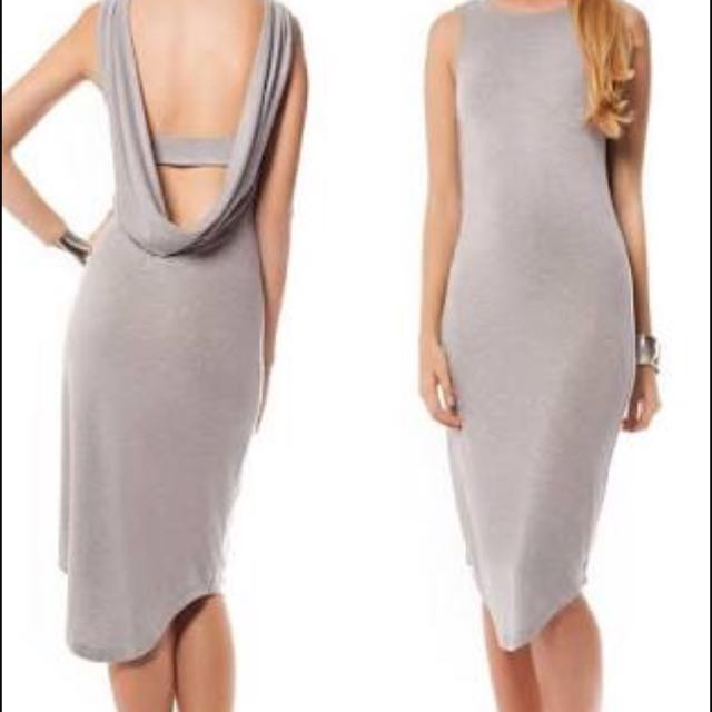 Premonition Designs Grey Flume Dress Size 10