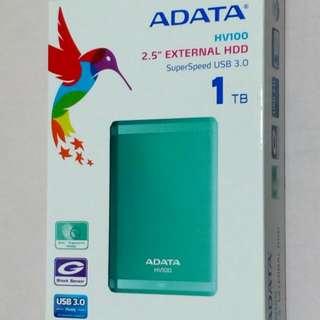 🚚 ♥ ADATA 威剛 HV100 1TB 2.5吋 USB3.0 行動硬碟 綠色