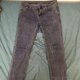 (含運)窄管 牛仔褲