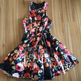 Ally Floral Tulle Dress Size 6