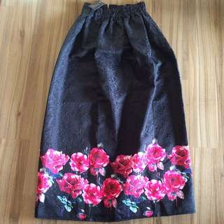 Brand New Textured Floral Skirt Size 8-14