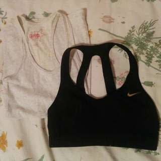 Nike Sports Bra And Garage Tank Top