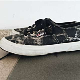 SUPERGA 2750 Black Leopard Anima Print
