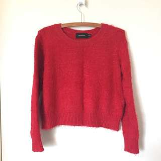 Mink pink Cropped Knitted Jumper