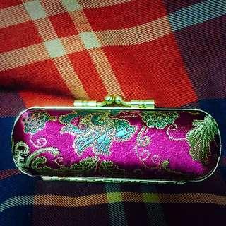 日本復古精緻手工繡花印章盒