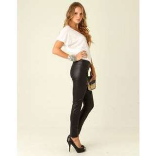 Supre Minx/leather Leggings
