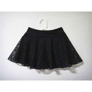 (SALE) Lace Skorts (Black)