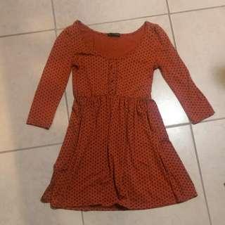 Orange Spotted Dress