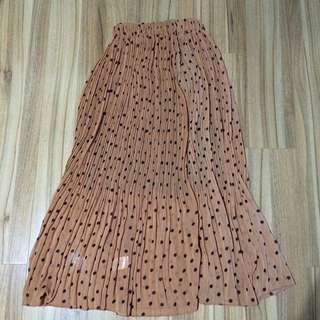 Polka Dot Full Length Skirt