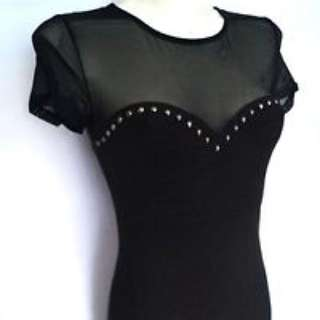 Hnm Mesh Studded Dress