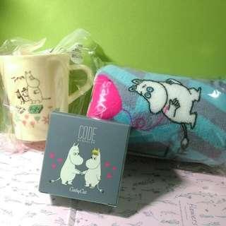 已預定*Code x 嚕嚕米 Moomin 金屬氣墊粉餅 20.5號 (贈小毯子和杯子)