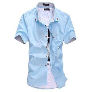 👀《促銷》3/27型男蘑菇小口袋短袖襯衫