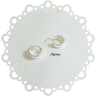 特價 S925純銀耳環 環狀耳環