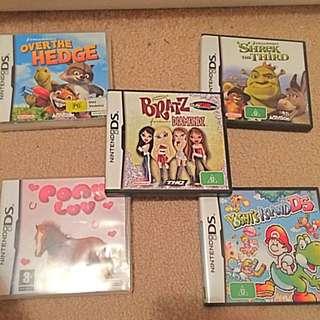 DS, Game, Over The Hedge, Pony Luv, Shriek The Third, Dream works, Yoshi Island, Brats Forever Diamonds