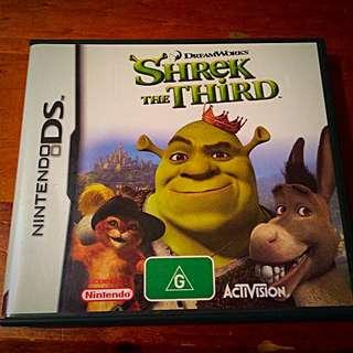 DS, Game, Shriek The Third, Dreamworks, Rated G, Nintendo
