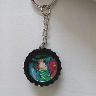 監獄兔瓶蓋鑰匙圈