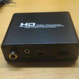 出售全新HDMI 轉DVI 帶音頻轉換器