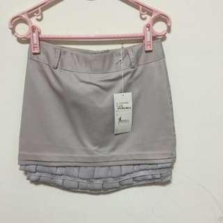 灰色質感短裙