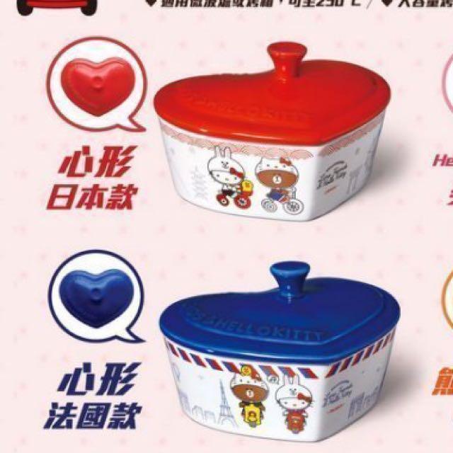 7-11 LINE FRIEND&HELLO KITTY 聯名造型烤盤