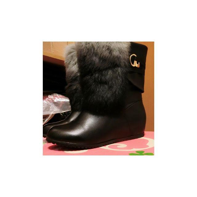 韓版隱形增高踝靴