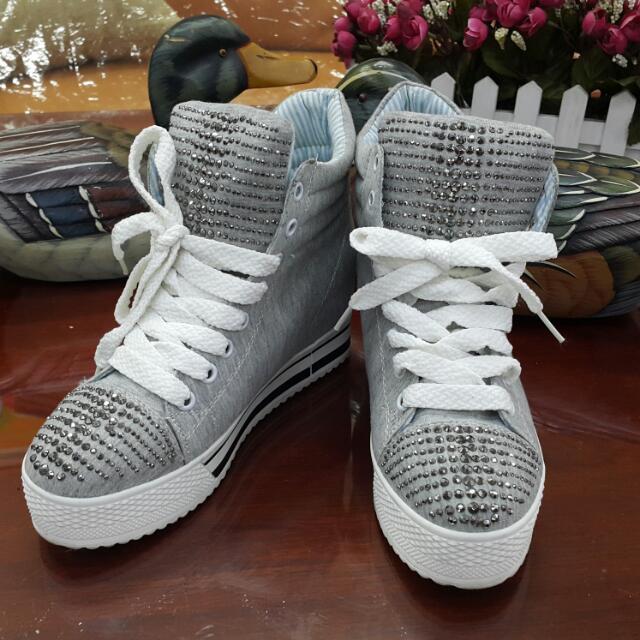 【含運】韓制 厚底帆布鞋