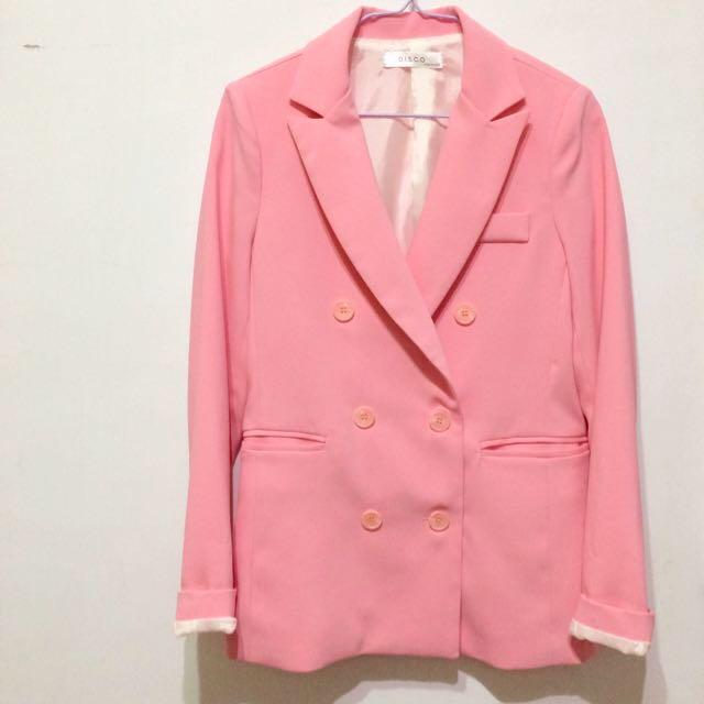 春裝 Neon Pink 西裝外套