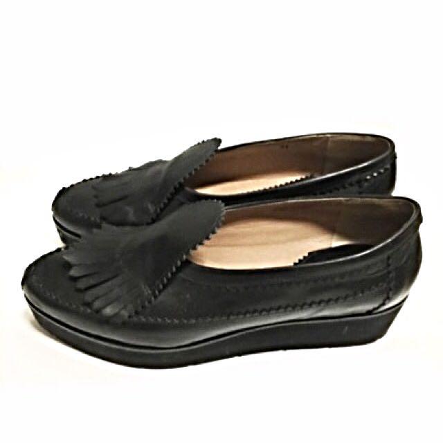 Authentic Emporio Armani Black Leather Shoes