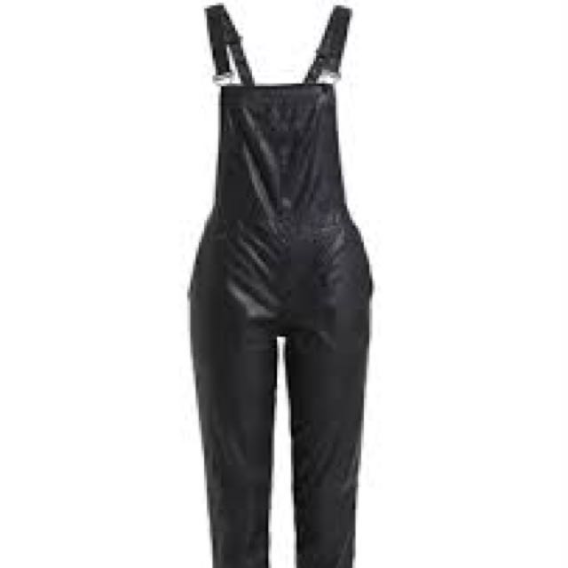 Bardot Leather Lets Play jumpsuit