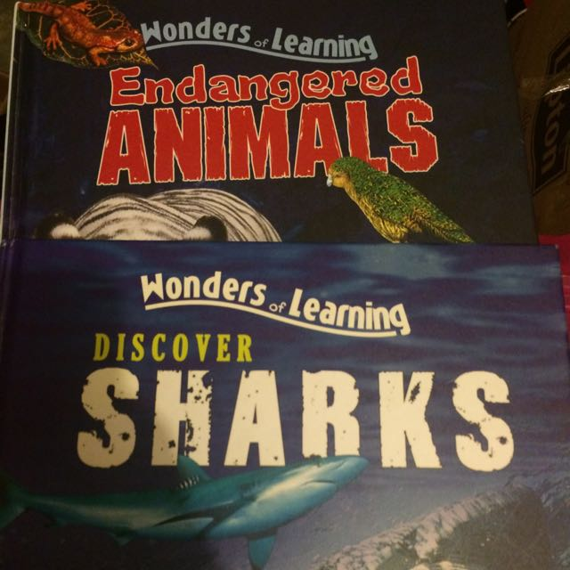 Books, Learning, Sharks, Endangered, Wonders Of Learning, Barely Touched, Kids