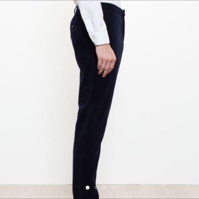 Burberry London深藍棉質窄版西裝褲