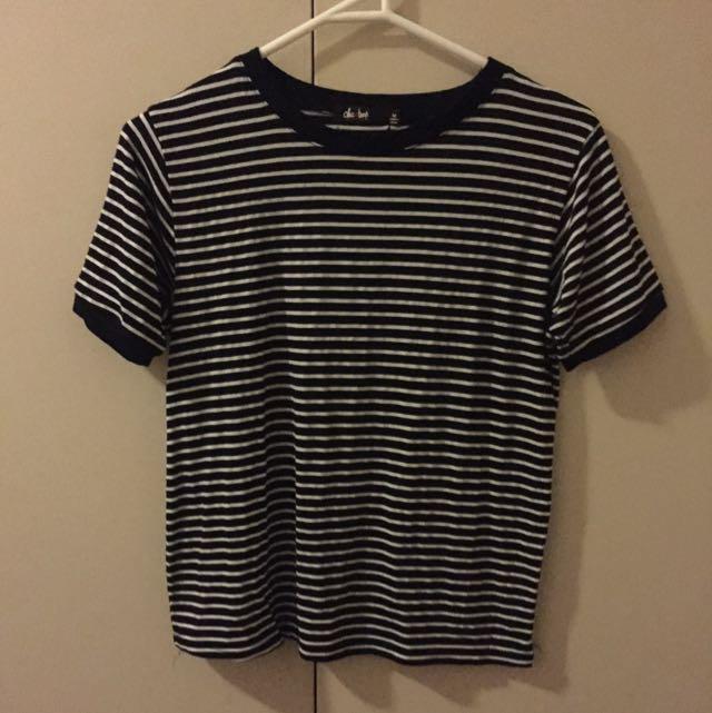 chic-a-booti striped shirt