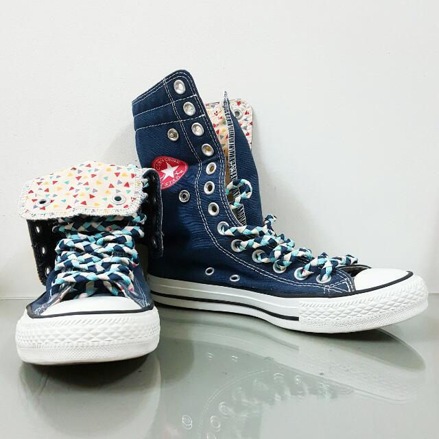 Converse 高筒兩穿帆布鞋 UK4