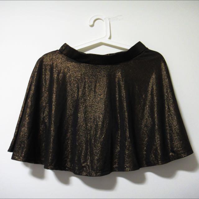 (SALE) Dark Gold Skater Skirt