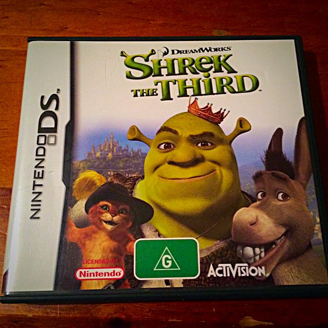 DS, Game, Shriek The Third, Dreamworks, Rated G, Nintendo