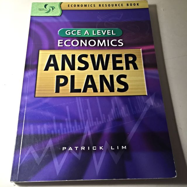 2 Textooks: Economics Answer Plans and Model Essays for revision