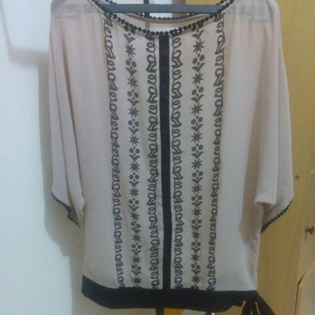 Ethnic Ribbon Side Tops#preloved