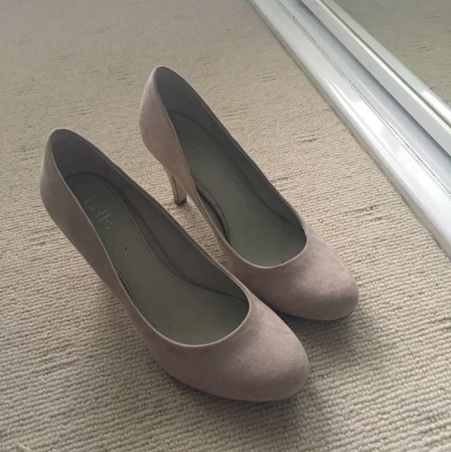 Grey Pink Heels