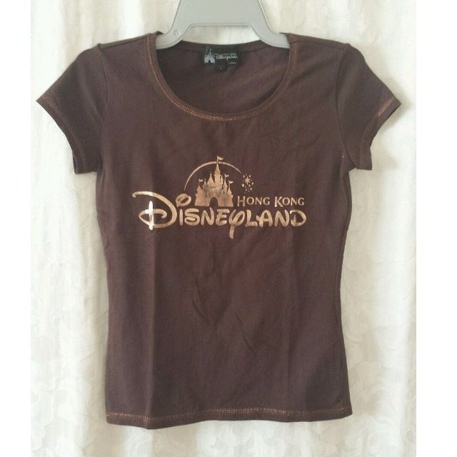 Hong Kong Disneyland brown shirt size Small