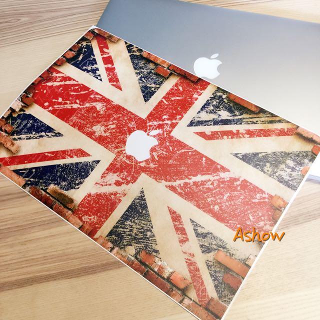 MacBook Pro Retina Air 11 13 15 英國 國旗 機身 貼膜