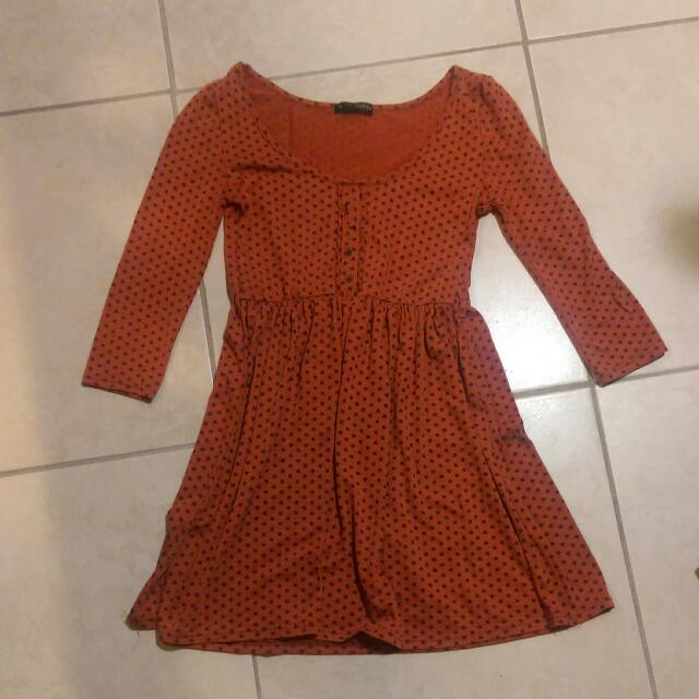 Orange Spotted Dress