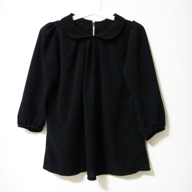 Peterpan Collar Top (Black)